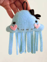 Jellyfish Plush Keychain by casscc