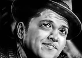 Bruno Mars Drawing by maximerokus