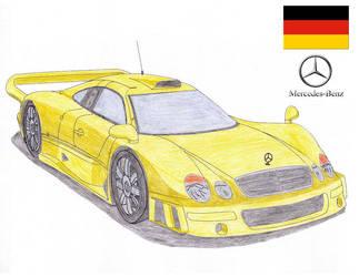 Mercedes Benz CLK GTR by Sir-Genesis