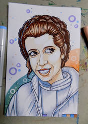 Princess Leia - R.I.P. Carrie Fisher by Joanna-artist