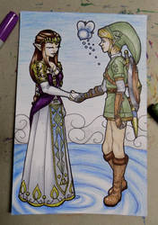 Zelda and Link by Joanna-artist