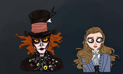 Burton Hatter and Alice by Lily-pily