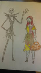 Jack sally quick sketch by Lily-pily