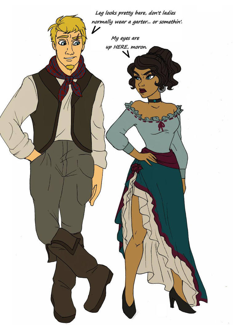 Cowboy and spanish rose by Lily-pily