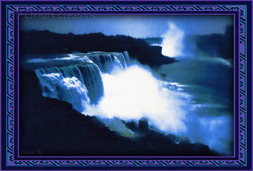 Niagara Falls Painting Effect with Frame by Christi-Dove