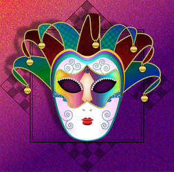 Colorful Carnival Mask by Christi-Dove
