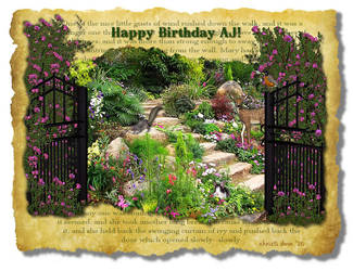 'The Secret Garden' Theme Birthday Card by Christi-Dove