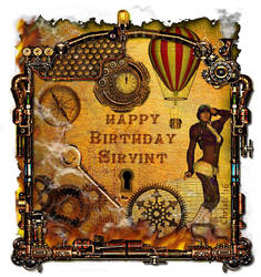 Steampunk Birthday Card by Christi-Dove