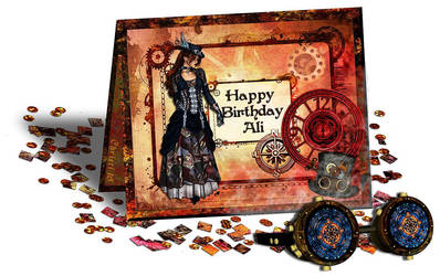Steampunk Birthday Card 2 by Christi-Dove