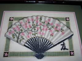 Cross-stitch: Oriental Fan by Kiela-Starcatcher