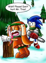 Sonic's Twelve Pains of Christmas part1 by jaguarcats