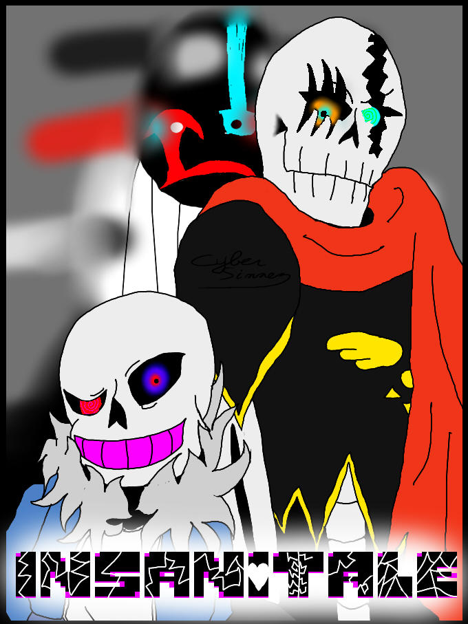 Insanitale Sans Papyrus And Gaster By Cyber Sinner On Deviantart