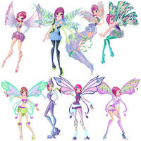 Winx tecna's transformations by Jazzywazzy101