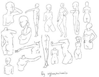 Pose reference 1 (female) by xghostwheelx