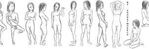 Female pose study by xghostwheelx