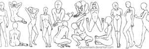 Pose study - female figure by xghostwheelx