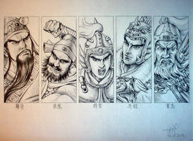 The Five Tiger Generals by Amelie-the-Fox