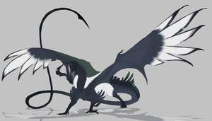 fowl dragon by Grimmla
