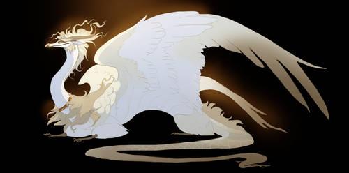 pale dragon by Grimmla
