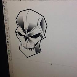 random skull by xcasex