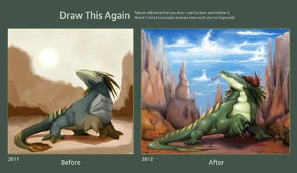 Draw this again challenge: King Komodo by blitzARiTz