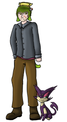 Natalo and a kitty by GrazArts