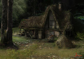 The cottage by ARTOFTHEOLDSCHOOL