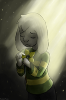 Asriel's flower by ForeverMuffin