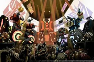 Commission: DJ Battle by JavierReyes