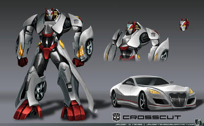 Commish- Crosscut- TF Prime Style by JavierReyes