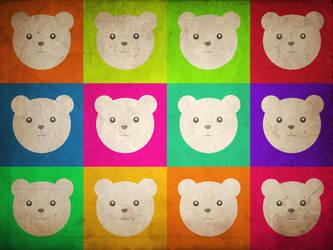 Polar Bear Pop Art by zer0nyx