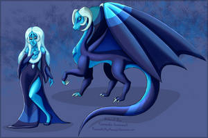 The Great Dragon Authority - Blue Diamond by flamesxofxmyxmemory