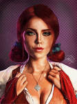 Triss Merigold - The Witcher Wild Hunt - by BetthinaRedfield