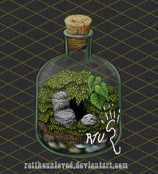 Terrarium in a bottle Cozy Minimap. by RatTheUnloved