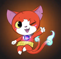Jibanyan ready to Smash by aftertaster7