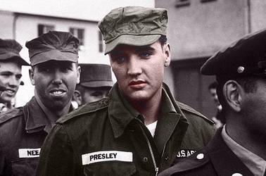 Elvis in Army by FataMorgana2012