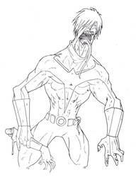 nightwing - zombie by D37HB01