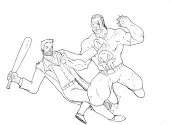 Max Payne vs The Punisher by D37HB01