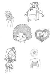Random TD Sketches #1 by bella--draws