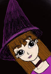 Witch Sketch by bella--draws