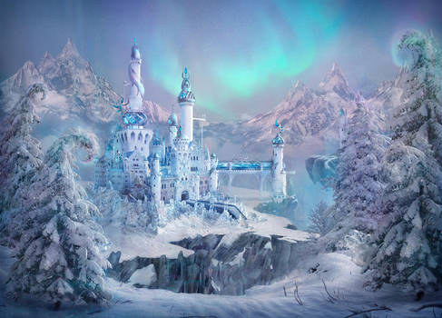 The castle of the Snow Queen by qi-art