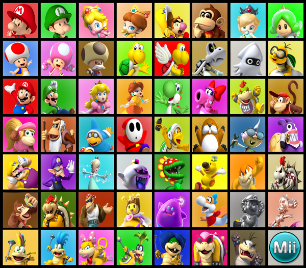 Mario Kart 10 Roster by DryBones157 on DeviantArt