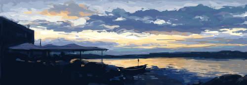 Lake Speedpaint by redmoonscape
