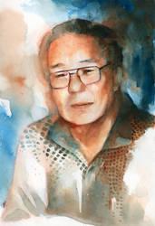 Watercolour Portrait by redmoonscape