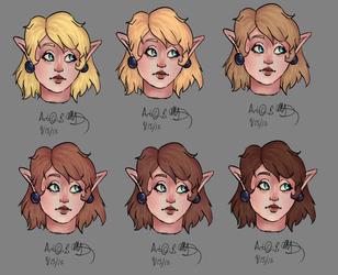 KoH Zelda Hair color variations 91313 by Zeldalina