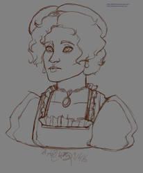 Queen Leene Bust Sketch 9615 by Zeldalina