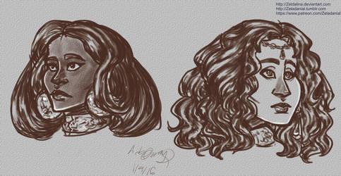 Mara Moiraine HS Sketches 1416 by Zeldalina