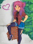 Skater Girl by Naty-Ilustrada