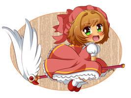 Chibi Sakura by Naty-Ilustrada