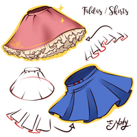 Hot to Draw Skirts - Faldas by Naty-Ilustrada